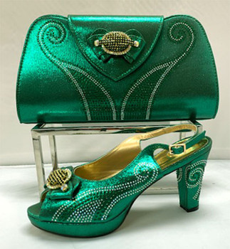 Grand Diamond Shoes & Bag # 6 (N Green)