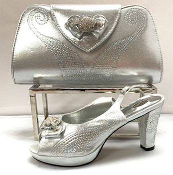 Grand Diamond Shoes & Bag # 9 (Silver)