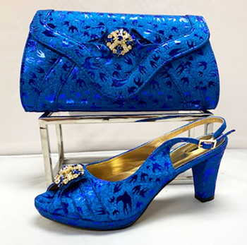 Grand Diamond Shoes & Bag # 15 (Royal Blue)