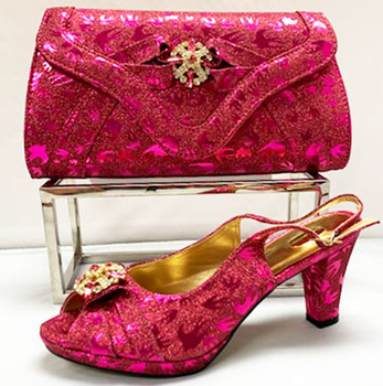 Grand Diamond Shoes & Bag # 16 (Fuchsia Pink)