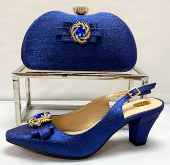 Grand Diamond Shoes & Bag # 18 (Royal Blue)