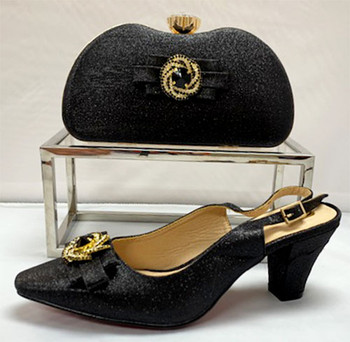 Grand Diamond Shoes & Bag # 22 (Black)