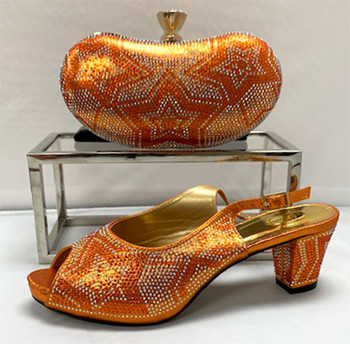 Grand Diamond Shoes & Bag # 25 (Orange)