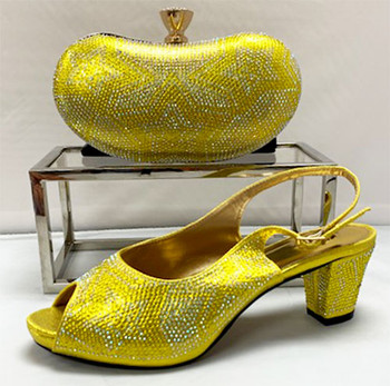 Grand Diamond Shoes & Bag # 28 (Yellow)