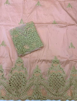 Handcut Wrapper with Blouse Piece 54 (Peach)