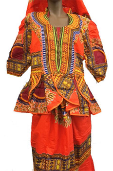 Skirt & Blouse #147 (Orange)