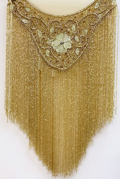 Beaded Cape # 5 Gold