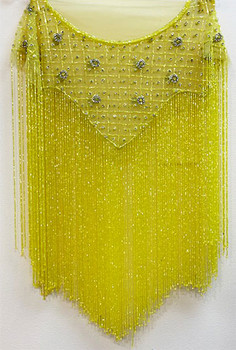 Beaded Cape # 11 Yellow