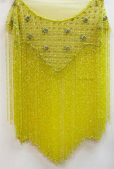 Beaded Cape # 11 Yellow