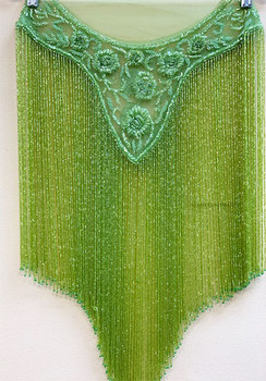 Beaded Cape # 15 lime Green