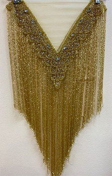 Beaded Cape # 17 Gold