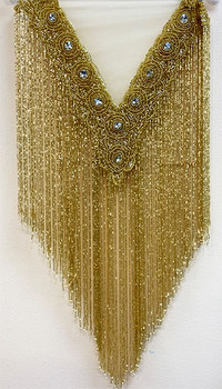 Beaded Cape # 18 Gold