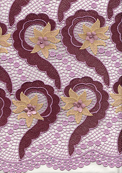 New Cord Lace 294 (Lilac/Wine)
