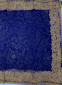 Net Saree George 109 (Navy Blue)