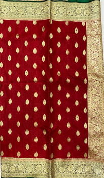 Saree George 34 (Dark Red/Green)