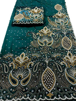 First Lady Wrapper 67 (Dark Green) with Blouse Piece