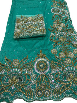 First Lady Wrapper 467 (Mint Green) with Blouse Piece
