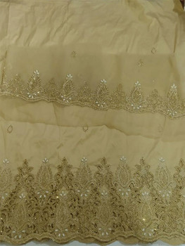 Handcut Wrapper with Blouse Piece 103 (Beige)