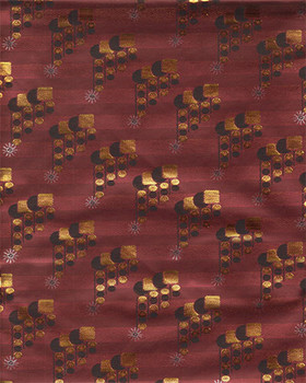 Grand Diamond Headtie 8 (Wine/Gold)