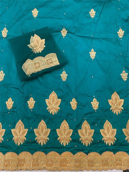 Wrapper with Blouse Piece 59 (Teal Green)