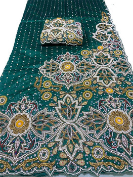 First Lady Wrapper 95 (Green) with Blouse Piece