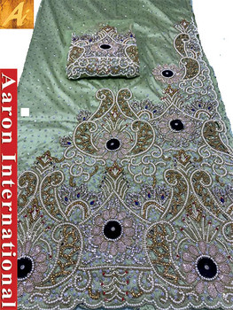 First Lady Wrapper 22 (Light Lime) with Blouse Piece