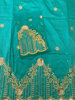 2pc Wrapper # 21 (Mint Green with  Blouse Piece