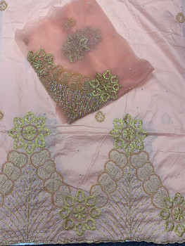 2pc Wrapper # 31 (Peach) with  Blouse Piece
