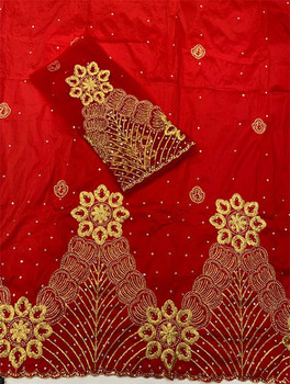 2pc Wrapper # 32 (Red) with  Blouse Piece