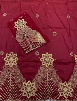 2pc Wrapper # 33 (Burgundy) with  Blouse Piece