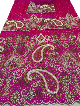 First Lady Wrapper 49 (Hot Pink) with Blouse Piece