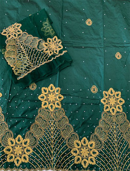 2pc Wrapper # 115 (Dark Green) with  Blouse Piece