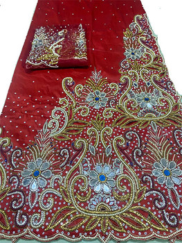 First Lady Wrapper 6 (Red) with Blouse Piece