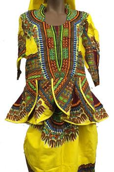 Skirt & Blouse #141 (Yellow)