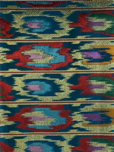 2pcs Sego Headtie 278 (Turquoise Blue/Red/Gold)