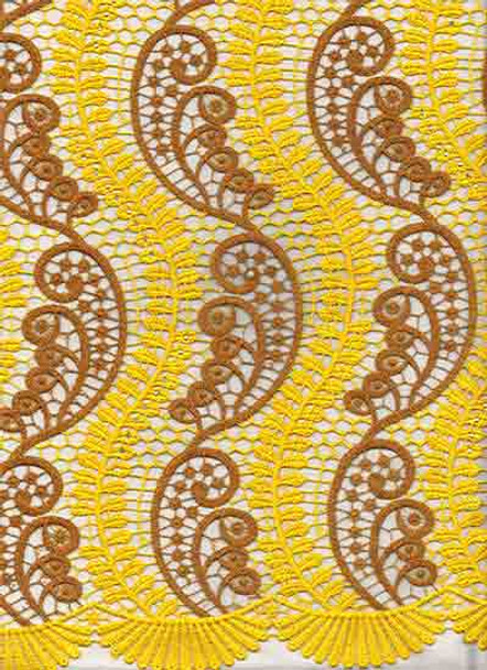 New Cord Lace 319 (Yellow/Brown)