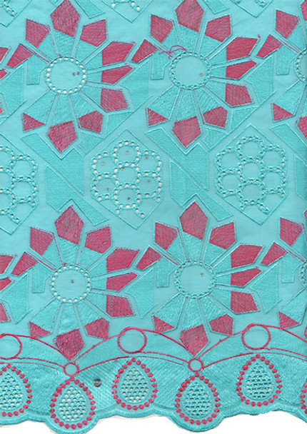 Voile Lace 224 (Mint Blue)