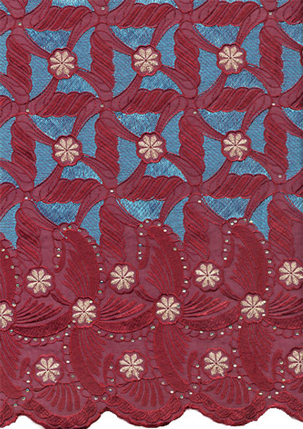 Voile Lace 232 (Magenta/Blue)