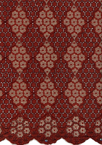 Voile Lace 244 (Burgundy)