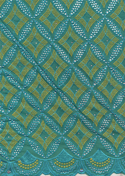 Voile Lace 256  (Green)