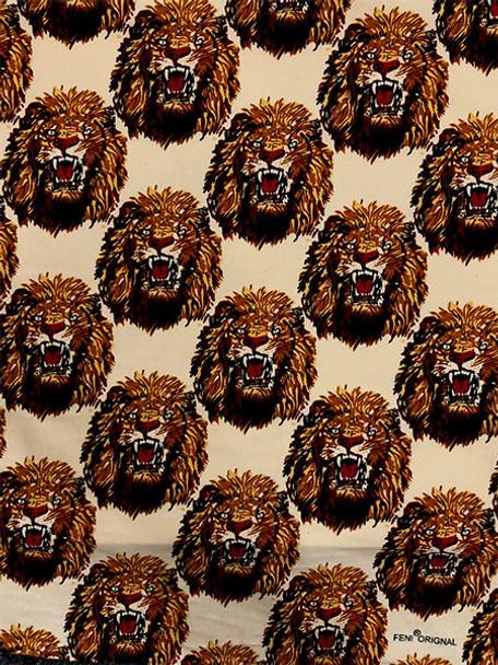 Feni Fabric # 1 Lion Head- Cream (4 yardS)