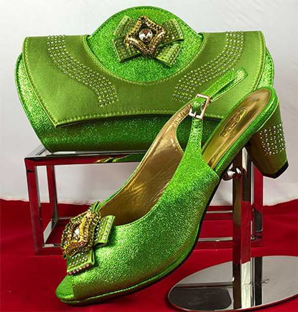 Grand Diamond Shoes & Bag 81 (Lemon Green)