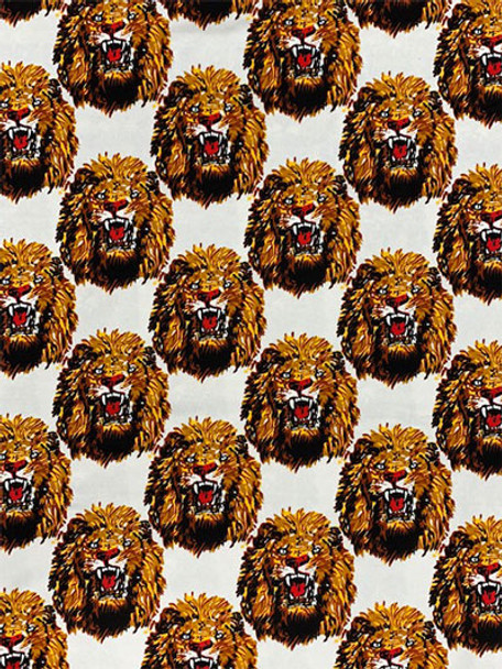 Feni Fabric # 9 Lion Head- White