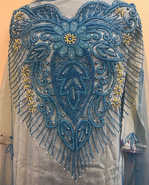 Blouse Piece # 203 (Dark Turquoise Blue)