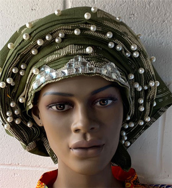 Auto Gele # 20 (Olive Green)