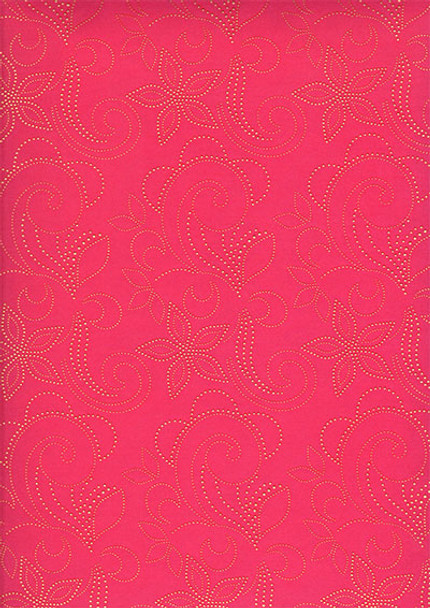 2pcs Sego Headtie # 41 (Hot Pink/Gold)