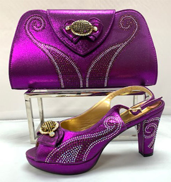 Grand Diamond Shoes & Bag # 7 (Purple)