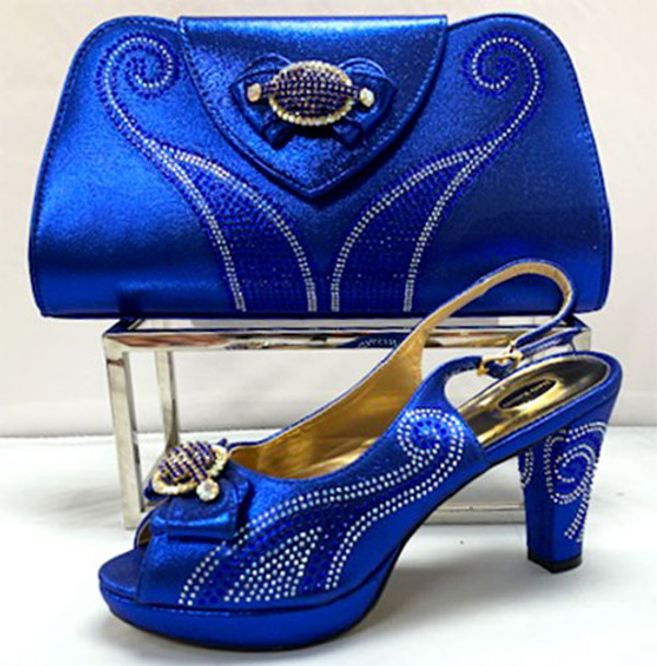 Grand Diamond Shoes & Bag # 11 (Royal Blue)