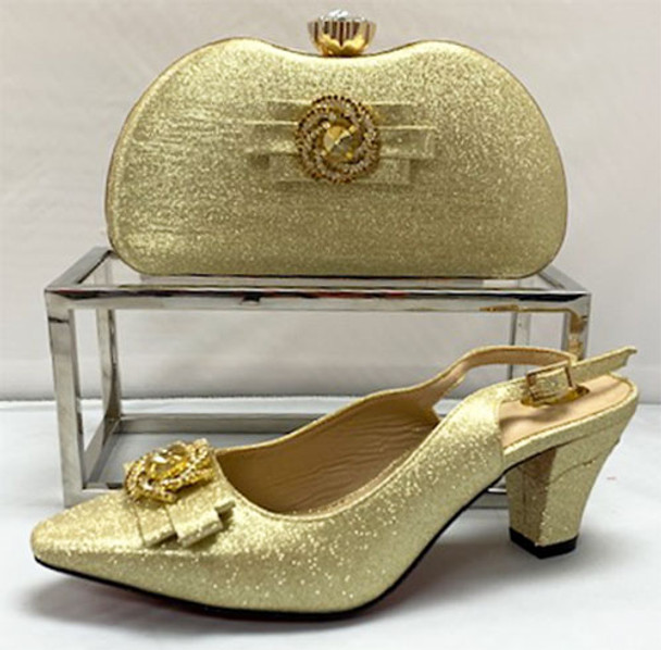 Grand Diamond Shoes & Bag # 21 (Gold)