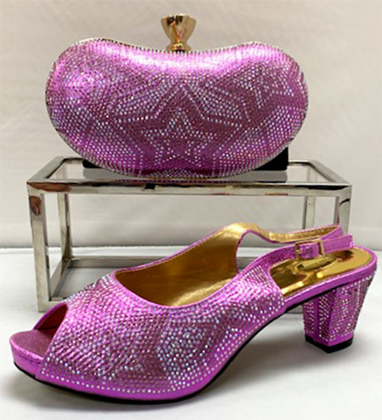 Grand Diamond Shoes & Bag # 27 (Lilac)
